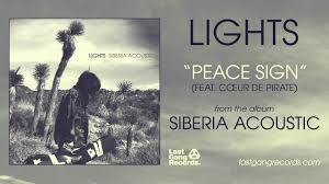 Lights Fourth Dimension Lyrics Lights Peace Sign Feat Coeur De Pirate