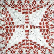 Copriletto alluncinetto di cotone bianco a piastrelle quadrate