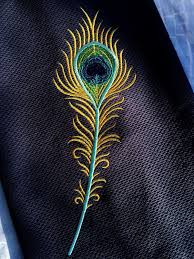 Embroidery Feather Designs Machine Embroidery Design Peacock Feather 2 Sizes