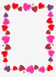 leiaalisonlavigne hearts frame boarder png by leiaalisonlavigne valentines day border clip art 1049390