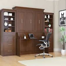 office wall bed. Bed \u0026 Room Porter Full Portrait Wall With Desk And Two Side Towers In Walnut Office A