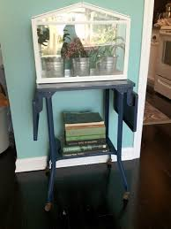 liberty and lace vintage metal typewriter table makeover