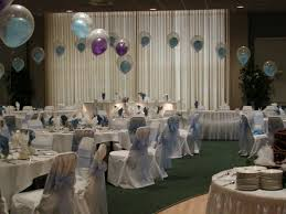 decoration: Superb Party Balloons Decorations With White Plate On Round  Table Near Tableware On Nice