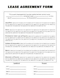 lease agreement sample free template lease agreement lease agreement free template simple