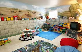 cool basement ideas for kids. Contemporary Ideas Adorable Basement Playroom With Chair And Table For Kids Intended Cool Basement Ideas For Kids O