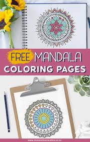 The colouring of mandalas can be very relaxing and will improve concentration. Free Printable Mandala Colouring Pages