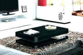 high gloss black coffee table with led lighting tiffany range drawers c