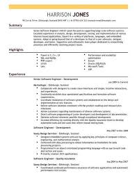 Resume Template Software Software Engineer Cv Template Cv Samples Examples