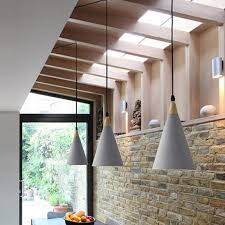 lukloy industrial modern concrete pendant light vintage cement kitchen bar hanging ceiling lamp lighting fixture hanging pendant glass hanging lights from