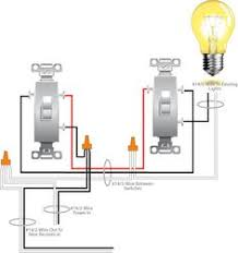 3 way switch wiring diagrams do it yourself help com household how to add a hot receptacle to a switch circuit is illustrated in this diagram