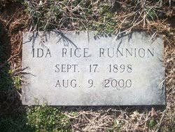 Ida Rice Runnion (1898-2000) - Find A Grave Memorial