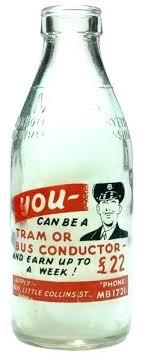 antique milk bottles listing