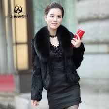 large fox fur full pelt rabbit fur coat women short rabbit fur jacket waistcoats customize big