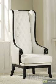 high back accent chairs neo classic opal blackwhite highback