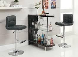 Contemporary Pub Table Set Coaster Fine Furniture 101063 102554 Contemporary Bar Table Set