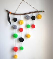 Hanging Pom Pom Decorations Hanging Wall Decor Decorating Ideas Hanging Wall Decor Kelli