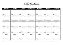 Monthly Meal Planner Printable Template And Log Sheet