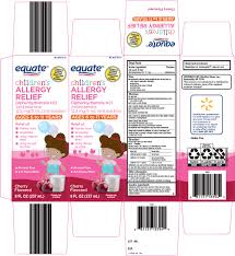 Equate Allergy Relief Solution Wal Mart Stores Inc