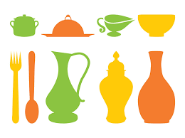 kitchen utensils silhouette vector free. Kitchen Utensils Pack Silhouette Vector Free
