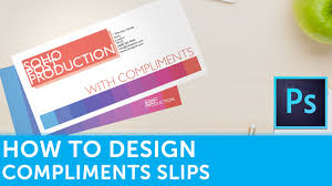 With Compliments Card Design How To Design Compliment Slips In Photoshop Design Tutorial