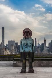 otherworldly figures have landed on the met s rooftop garden