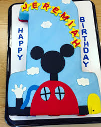 Mickey Mouse 1 Year Old Birthday Cake Cherish The Cakes