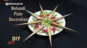 Mehndi Tray Decoration DIY Decorative Mehndi cone plate Wedding Plate Decoration JK 95