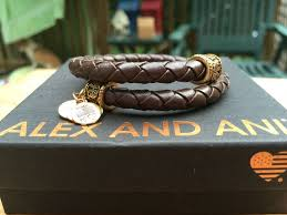 alex and ani vintage 66 in spirit chocolate braided leather path of life wrap
