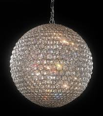 crystal globe pendant light 968 40