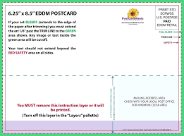 Postcard Template 4x6 Usps Postcard Template 4 X 6 How To Make A In Word 7 Mailing