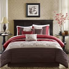 com madison park serene 6 piece duvet cover set red king cal king embroidred includes 1 duvet cover 2 king shams 3 decorative pillows