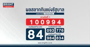ตรวจหวย สลากกินแบ่งรัฐบาล 1 ธันวาคม 2563 รางวัลที่ 1 คือ 100994