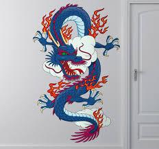 chinese dragon wall sticker