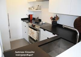 absolute black honed granite worktop