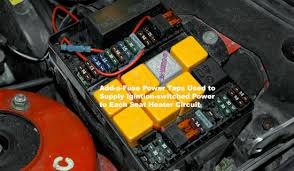 mwerks com adding seat heaters to your older bmw adding a fuse to a fuse box at How To Tap Into A Car Fuse Box