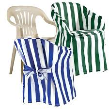 chair covers for plastic chairs designer shows us how to make basic i bother putting on outdoor but sure do like the striped fabric or folding chai