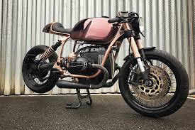 bmw r100 r mystic is a shiny copper