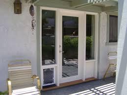 exterior door with dog door. french doors with doggie door built in | wood - elegance entries and windows exterior dog