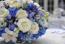 Preston Bailey, Preston Bailey's Blog, White and Blue Flowers, Floral  Centerpiece, Spring