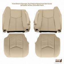 details about 2005 cadillac escalade upholstery replacement leather seat covers color tan