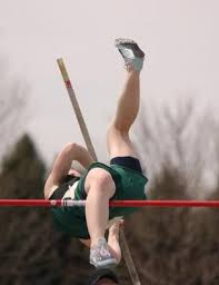 this was me the first meet i won i almost knocked it down because i couldn t get 1 leg over but i managed to do it