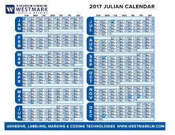 Julian Calendar 2017 Westmark Labels Marking
