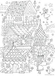 Gingerbread House Coloring Sheets Houses Coloring Pages The White