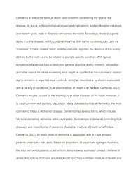 dementia sample paper essay dementia