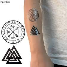<b>2pcs</b>/<b>set Patchfan</b> viking Cool Temporary Body Art Flash Tattoo ...