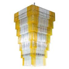 italian chandelier in murano glass with triedro elements venini