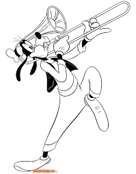 trombone coloring page. Trombone Coloring Page COLORING PAGES And