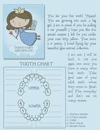 Free Printable Tooth Fairy Certificate With Tooth Chart