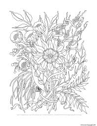 Advanced Trend Elegant Flowers Adult Coloring Pages Coloring Pages