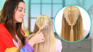 How To Create A Fluffy Heart Braid 2019 Valentines Day Hairstyles